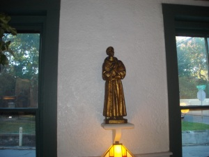 St. Francis in the dining room